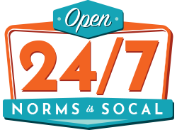 Open 24/7 - Norms is Socal
