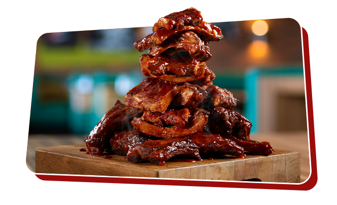 Stack of All You Can Eat Ribs