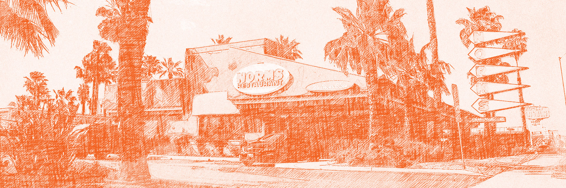 Sketch of Norms restaurant