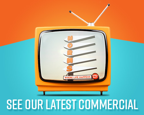 Check out NORMS latest TV Commercials